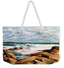 Back Shore Gloucester Weekender Tote Bag by Eileen Patten Oliver