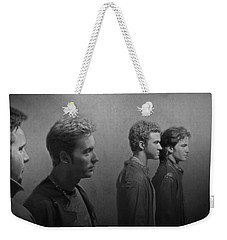 Back Stage With Nsync Bw Weekender Tote Bag