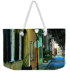 Weekender Tote Bag featuring the photograph Back Street In Charleston by Rodney Lee Williams