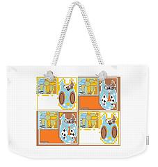 Weekender Tote Bag featuring the digital art Back To School Owl by Ann Calvo