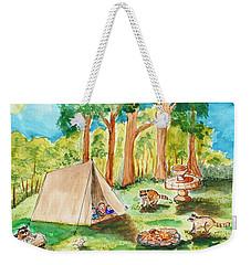Back Yard Camp Weekender Tote Bag