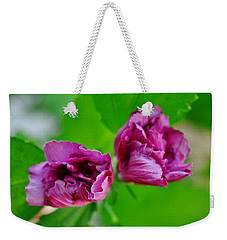 Back Yard Weed Weekender Tote Bag
