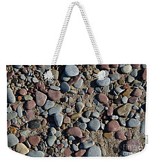 Weekender Tote Bag featuring the photograph Background Of Wet Pebbles And Sand by Kennerth and Birgitta Kullman