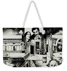 Weekender Tote Bag featuring the drawing Backlane Serenade by Otto Rapp