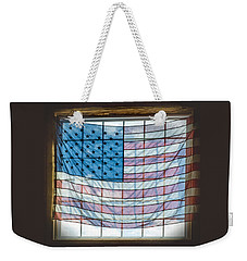 Backlit American Flag Weekender Tote Bag by Photographic Arts And Design Studio