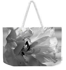 Backlit Black And White Tulip Weekender Tote Bag