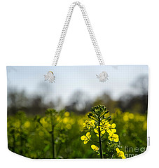 Backlit Canola Flower Weekender Tote Bag