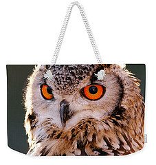 Backlit Eagle Owl Weekender Tote Bag by Roeselien Raimond