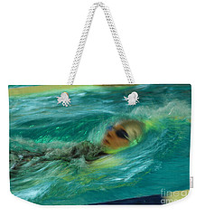 Backstroke Weekender Tote Bag by Randi Grace Nilsberg