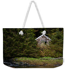 Backwoods Shack Weekender Tote Bag by Melinda Ledsome