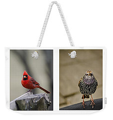 Backyard Bird Series Weekender Tote Bag by Heather Applegate