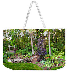 Backyard Garden In Loon Lake, Spokane Weekender Tote Bag by Panoramic Images
