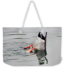 Weekender Tote Bag featuring the photograph Bad Landing by Deb Halloran