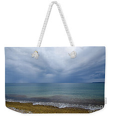 Weekender Tote Bag featuring the photograph Bad Weather Approaching At The Coast by Kennerth and Birgitta Kullman