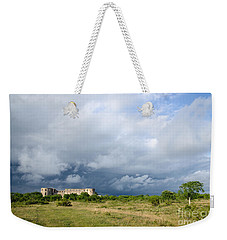 Weekender Tote Bag featuring the photograph Bad Weather Is Coming Up At  A Medieval Castle Ruin by Kennerth and Birgitta Kullman