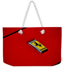 Weekender Tote Bag featuring the photograph Badge In Red by Dean Ferreira