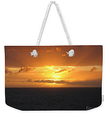 Weekender Tote Bag featuring the photograph Bahamas Ocean Sunset by John Telfer