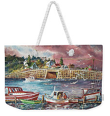 Bailey Island Cribstone Bridge Weekender Tote Bag
