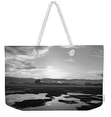 Weekender Tote Bag featuring the photograph Bakersfield In Black And White by Meghan at FireBonnet Art