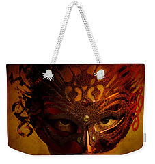 Weekender Tote Bag featuring the digital art Bal Masque by Galen Valle