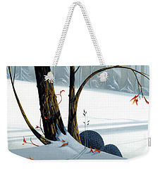 Weekender Tote Bag featuring the painting Balancing Act  by Michael Humphries