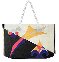 Weekender Tote Bag featuring the painting Balancing Act by Ron Davidson