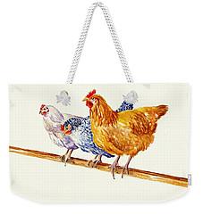 Balancing Chickens Weekender Tote Bag