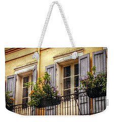 French Quarter Balcony Weekender Tote Bag by Valerie Reeves