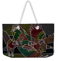 Bald Eagle Contours Weekender Tote Bag