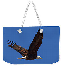 Bald Eagle Fly By Weekender Tote Bag