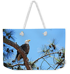 Weekender Tote Bag featuring the photograph Bald Eagle by Geraldine DeBoer