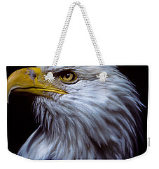 Weekender Tote Bag featuring the photograph Bald Eagle by Jeff Goulden