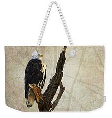Bald Eagle Keeping Watch In Illinois Weekender Tote Bag
