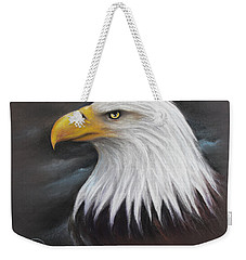 Bald Eagle Weekender Tote Bag by Patricia Lintner