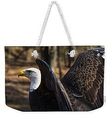 Bald Eagle Preparing For Flight Weekender Tote Bag by Chris Flees