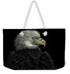 American Bald Eagle Weekender Tote Bag by Sandra LaFaut