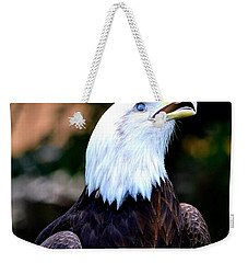 Weekender Tote Bag featuring the photograph Bald Is Beautiful by Deena Stoddard
