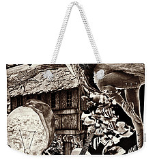 Weekender Tote Bag featuring the mixed media Ballerina Dreams by Ally  White