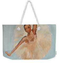 Weekender Tote Bag featuring the painting Ballerina by Marisela Mungia