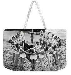 Ballet Rehearsal On The Beach Weekender Tote Bag by Underwood Archives