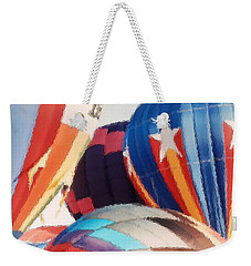 Weekender Tote Bag featuring the photograph Balloon Brush Strokes by Belinda Lee