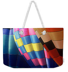 Weekender Tote Bag featuring the photograph Balloon Patterns by Rodney Lee Williams