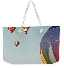 Weekender Tote Bag featuring the photograph Balloons High In The Sky by Belinda Lee