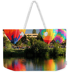 Weekender Tote Bag featuring the photograph Balloons Over Bend Oregon by Kevin Desrosiers