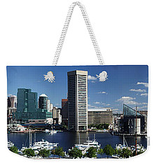 Baltimore Inner Harbor Panorama Weekender Tote Bag
