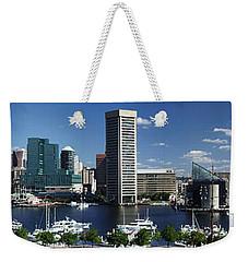 Baltimore Inner Harbor Panorama Weekender Tote Bag