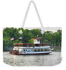 Weekender Tote Bag featuring the photograph Bama Belle On The Black Warrior River by Ben Shields