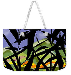 Bamboo Weekender Tote Bag by Christine Fournier