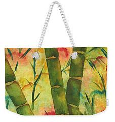 Bamboo Garden Weekender Tote Bag by Chrisann Ellis