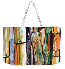Weekender Tote Bag featuring the painting Bamboo Garden by Marionette Taboniar